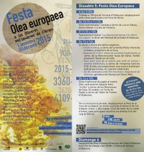Flyer Festa Olea europaea